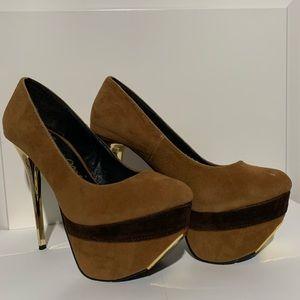 Shoes - Brown Suede Stilettos